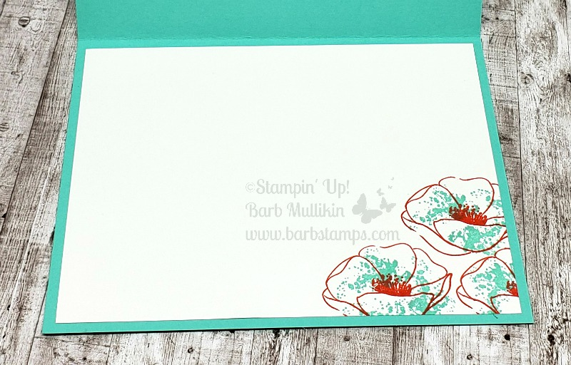 Painted poppies fuzzy center cabana card in