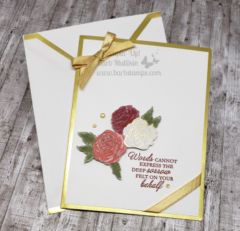 VIDEO for this gorgeous card on my blog www.barbstamps.com
