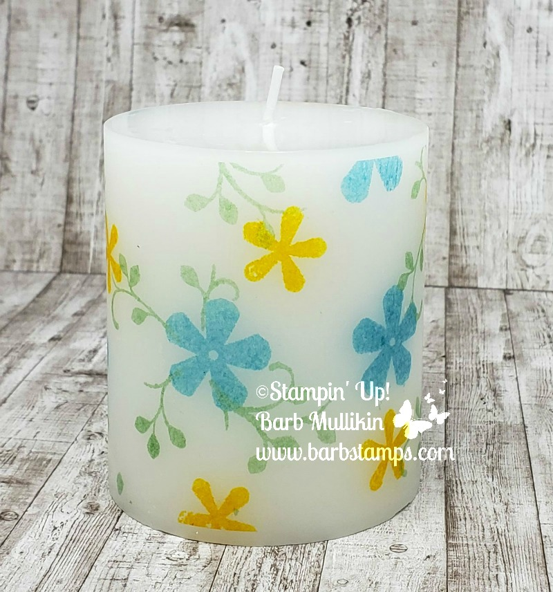 Thoughtful blooms candle