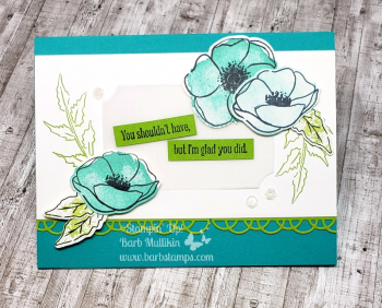 Painted Poppies VIDEO on  my blog www.barbstamps.com #stampinup #paintedpoppies #barbstamps