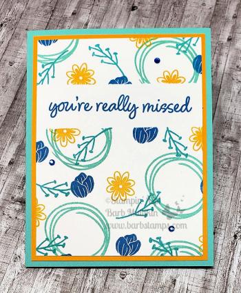 VIDEO lots of color combinations for ths card www.barbstamps.com