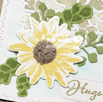 Fuzzy Flower Centers VIDEO on my blog www.barbstamps.com #naturesthoughts #stampinup #barbstamps
