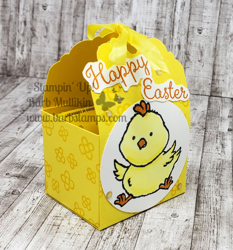 Welcome easter chick treat side
