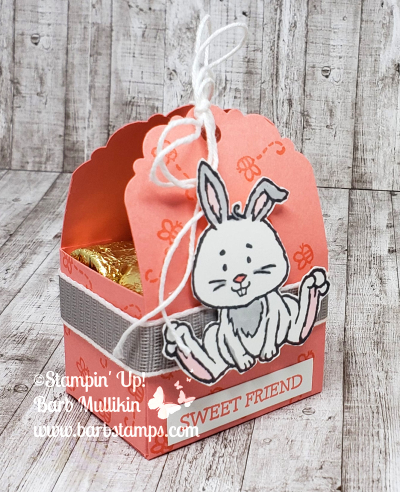 Welcome easter bunny treat side