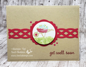 VIDEO My Meadow Wheelbarrow new class to go with this set www.barbstamps.com