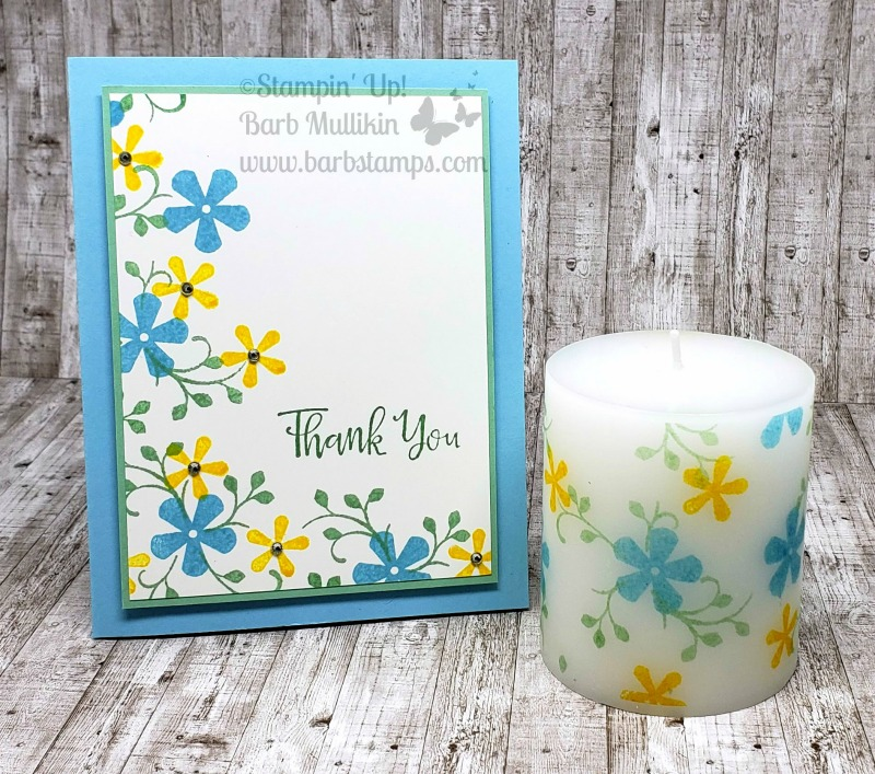 Thoughtful blooms card and candle1