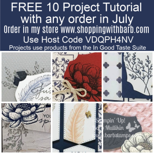 All orders at www.shoppingwithbarb.com earn this tutorial using a Brand New Bundle from the Stampin' Up! catalog. #ingoodtaste #tastefullabels #tastefultextile #stampinup #free