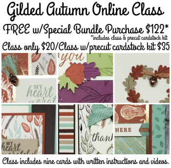 New Online Class features Gilded Autumn Sutie, class only $20 available globally