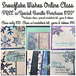 Snowflake Wishes Online Class www.barbstamps.com