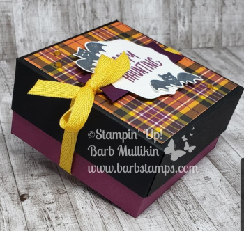 Plaid halloween box side