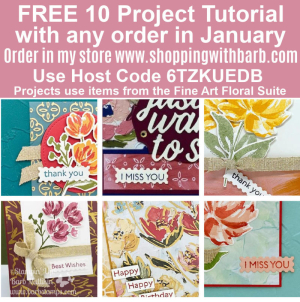 10 project file FREE with any purchase in January www.barbstamps.com #fineart #stampinup #artgallerybundle