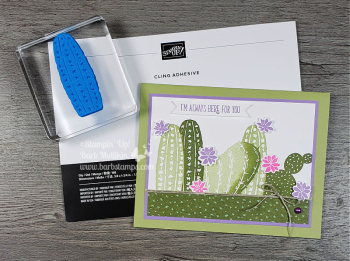 Flowering Cactus Online Class, Totally Techniques Club www.barbstamps.com #stampinup #floweringcactus