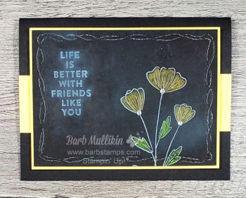 Tech chalkboard flowers friendship