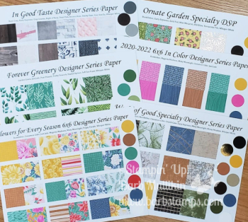 Purchase a DSP Sampler Kit www.barbstamps.com #designerseriespaper #dsp #dspsampler #stampinup