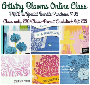 NEW Online Class #artistryblooms Online only version $20 available globally