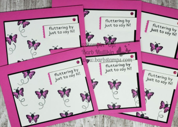 Fun with Hippo Happiness www.barbstamps.com #stampinup #hippohappiness #swaps #butterflies #magentamadnessta butterflies group
