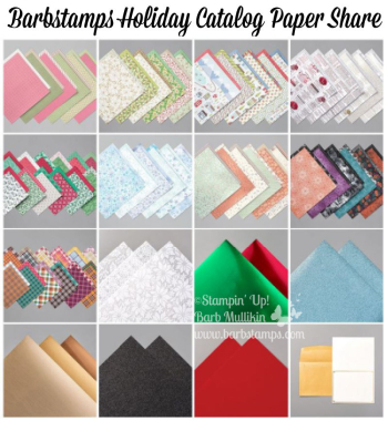 2020 Holiday Catalog Paper Share details on the blog www.barbstamps.com