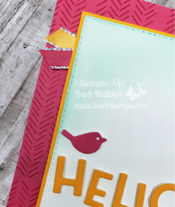 VIDEO using the Playful Alphabet Dies and our new Foam Adhesive Sheets www.barbstamps.com #stampinup #patternplay #playfulalphabet #bigshotclub