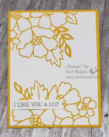 Week of Blossoms in bloom www.barbstamps.com Today is the detailed die cut! #stampinup #blossomsinbloom #justjade #barbstamps