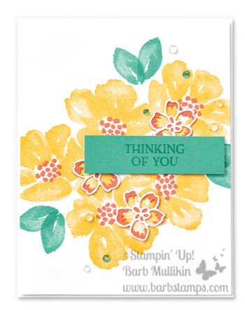 Week of Blossoms in Bloom projects www.barbstamps.com #stampinup #blossomsinbloom #justjade #cardideas