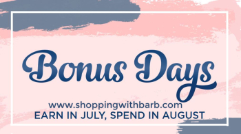 Spend $50 in July, earn $5 in August www.barbstamps.com