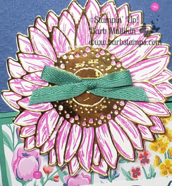 Celebrate sunflowers pink fun fold