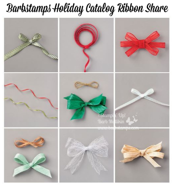 2020 Holiday Catalog Ribbon Share details on the blog www.barbstamps.com