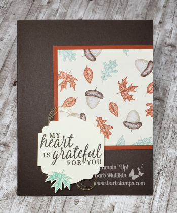 Beautiful Autumn from the Holiday Catalog www.barbstamps.com