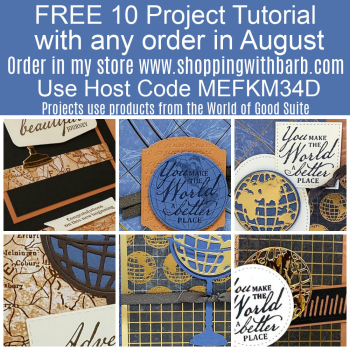 FREE 10 project tutorial with any order in August www.barbstamps.com