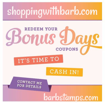 Bonus days cash in