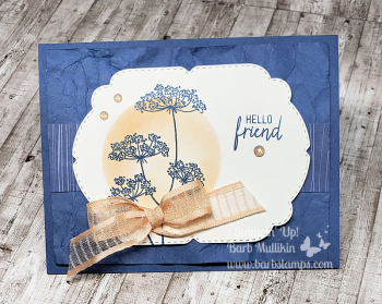 Video tutorial on  my blog for this gorgeous card www.barbstamps.com