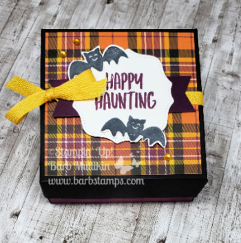Plaid halloween box