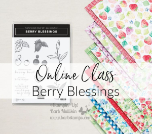 Berry Blessings Class, Bundle available www.barbstamps.com