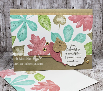 Love of Leaves featured in my September Kit to Go www.barbstamps.com
