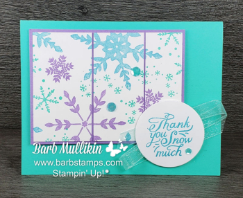 Christmas in July www.barbstamps.com #stampinup #snowflakewishes